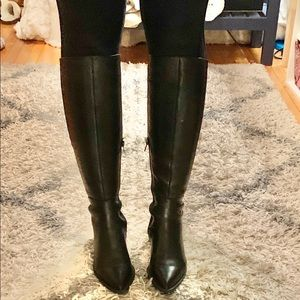 Steve Madden leather knee high boots